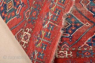 Early 19th Century Turkmen Beshir Cuval size 93x139 cm