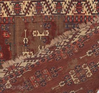 Yomud Kepse Gul Main Carpet circa 1800 size 165x240 cm