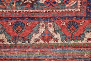 Unusual Persian Rug Fragment size 73x125 cm