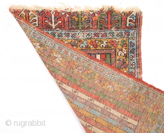 Mid 19th Century Central Anatolian Mudjur Yastik size 54x86 cm