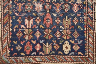 Late 19th Century Shirvan Rug size 100x123 cm