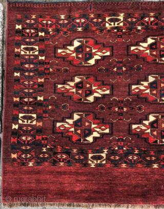Mid 19th Century Turkmen Karadashli Cuval size 74x113 cm