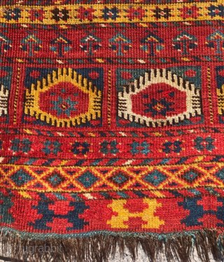 Lovely Mid. 19th C. Turkmen Snake Beshir Main Carpet size 170x303 cm as found condition