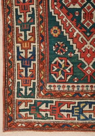 West Anatolian Bergama Rug circa 1870 size 84x121 cm