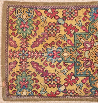 17th Century Chefchaouen Morocco Cross Stitch Embroidered size 30x57 cm