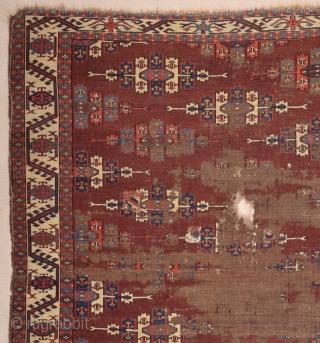 18th Century Turkmen Yomud Main Carpet size 165x240 cm