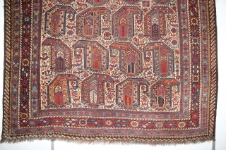 ca.1880 Amazing Kashqai rug ,, wonderful Natural colours,, size:187x157 cm  6.2x5.2 ft