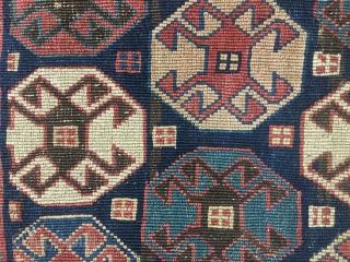 Ca.1900 Antique Shahsavan Sumak Panel, size:55x50 cm.   1.10x1.8 ft wonderful natural colours