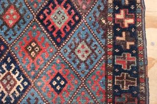 ca.1890 Antique Jaf bagface,wonderful natural colours,size:65x72 cm 2.1x2.4 ft