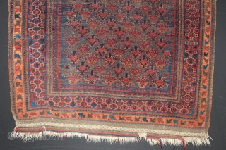 ca.1880 Dokhtar E Qazi Baluch Prayer rug,,wonderful natural colours,,size:150x110 cm  5x3.8 ft