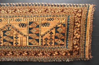 ca.1900 wonderful Ersari Torba,,Synthetic colours,,size:45x126 cm 1.6x4.2 ft