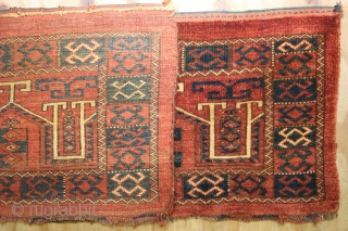 ca.1900 Wonderful Ersari Torba,Wnderful Natural colours,,size:42x144 cm  1.5x4.9 ft