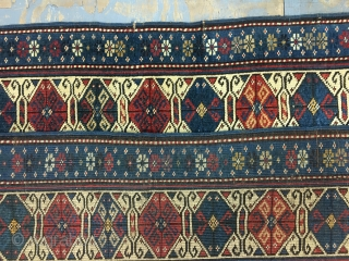 ca.1900 Antique Lesgi Shirwan , have very good untouched condition allover even low pile ,, size 156x122 cm5.2x4 ft