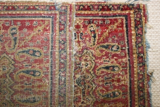 Rare 19th century India Amritsar small rug,,worn condition ,,wonderful colours,size:67x135 cm  2.2x4.4 ft