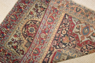 Rare small Dorokhsh Mashhad rug,wonderful natural colours,size:112x77 cm  3.6x2.5 ft