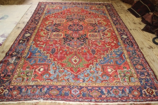 Wonderful Heriz Rug,great Natural colours,,size:360x235 cm