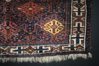 ca.1900 wonderful Baluch bagface,,size:65x75 cm  2.2x2.6 ft