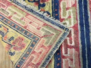 19th century Chinese mat , size 130x68 cm wonderful natural colours