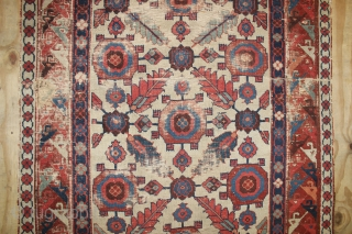 mid 19th century Shahsavan Rug(cut & shot,Fragment ),wnderful natural colours ,size:245x120 cm