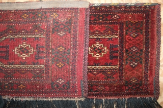 ca.1900 wonderful Salor gul Ersari Torba ,,all natural colours,,siz:42x175 cm  1.5x5.9 ft