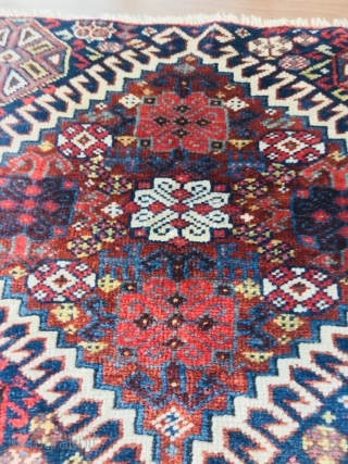 Very fine Qasgqai bagface 1870 circa-size55x45cm