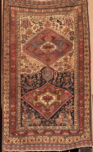 Khamseh rug 1870 circa size 180x110cm