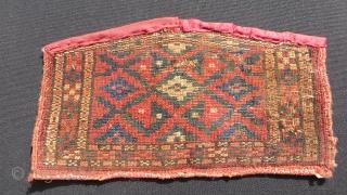 Turkmen ersari ceremonial camel knee pad trappings.size32x18cm