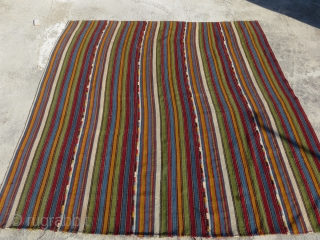 Shahsavan Jajim ,all good colors-size 185x156cm