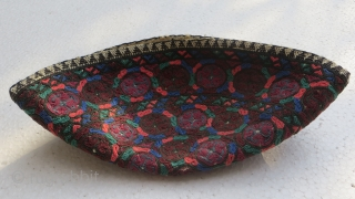 Turkmen cap Embroidery in silk.
