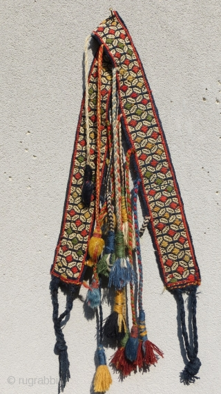 Qashqai trapping band for the horse's chest,circa 1880.size 130x7cm