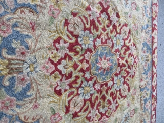 kashan a Crochet, wool on hemp 1880 circa-size 90x60cm