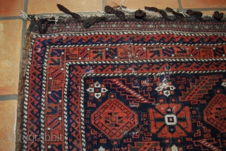 Antique Baluch bag face, 19th c., 86 x 77 cm, wear, some old repairs
