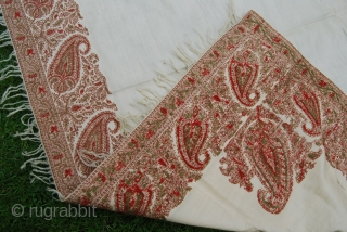 Antique Kashmir shawl (European/French), some small holes, 137 x 143 cm