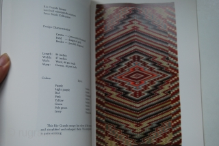 James Jeter and Paula Marie Juelke: The Saltillo Sarape, 1978, softcover, 97 pp., 34 colour plates, 21,5 x 28 cm
