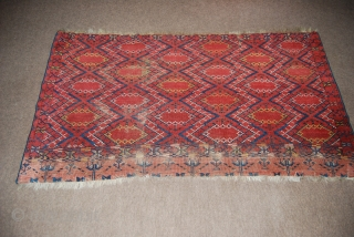 Ersari/Beshir chuval face with an ikat design, 90 x 168 cm, condition issues