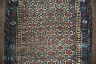 Old Baluch rug, 89 x 157 cm (with kilim ends), some small damages