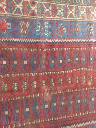 Antique tribal kurdish rug circa 1900, size 170x94cm.