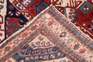 Antique caucasian kazak ushag kasim, curca 1900, size 175x114cm.