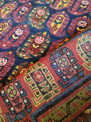 Late 20th century kurdish sauj bulagh carpet, size 300x164cm.