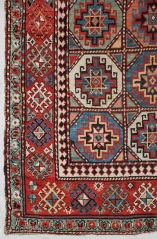 Antique Caucasian Kazak Moghan rug 19th century, size 297x130cm