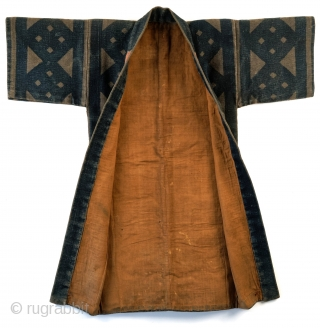 This is a striking antique Japanese fireman's jacket - hikeshi banten. The coat is made from multiple layers of cotton held together with upwards of 100 stitches per square inch.  Typically these jackets  ...