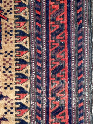Baluch prayer rug, considered by some to be among the finest example of this classic design group, all natural dyes, excellent condition with minor oxidation, more pictures and information at www.herat.com at  ...