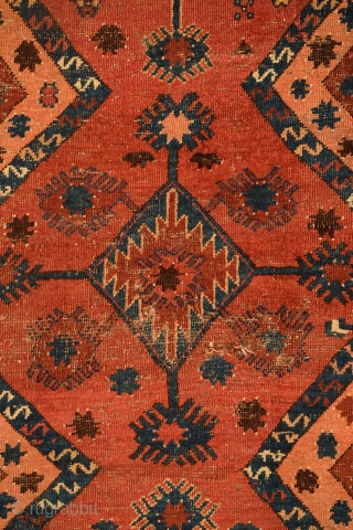 "Extremely rare Turkmen-Uzbek rug in remarkably good condition, tentatively attributed to a tribal group of the Nurata Basin, Uzbekistan, circa 1850, 4' x 7'4"" (+/-), additional information about this rug can be  ..."
