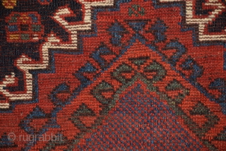 "Luri (Lori) bag face, size 26"" x 26"" (66 x 66 cm), (+/-), in this weaving one sees an exceptional example of Luri work, all natural dyes have produced brilliant, deeply saturated  ..."