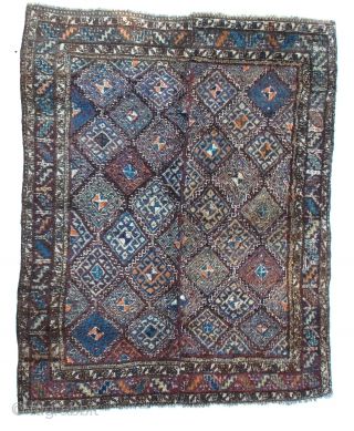 Uzbek Julkhyr, (sleeping rug), a long-piled rug of the Uzbeks of Central Asia. Nice colors early 1900s.