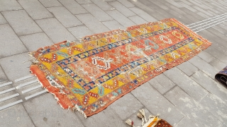 Size : 100 x 275 (cm), Middle anatolia (konya ), Over 160 years old , Natural dyes !