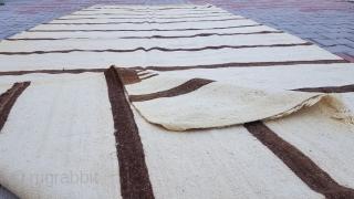 Size : 158 x 414 (cm), Middle anatolia (cappadocia) kilim Natural .