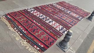 Size : 160 x 360 (cm), East anatolia (sinanli) kilim .