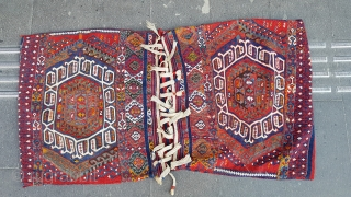 Size : 80 x 140 (cm)  East anatolia  19th century Sinanli single kilim heybe woven by a sub-tribe of Drejan in the Malatya region, one of the ancient tribal villages now under the  ...
