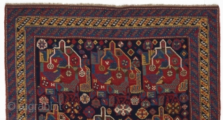 "Qashqai Rug, 4'4"" x 8' (133x240 cm), late 19th Cen."